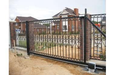установка автоматики для откатных ворот