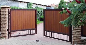 распашные ворота под заказ