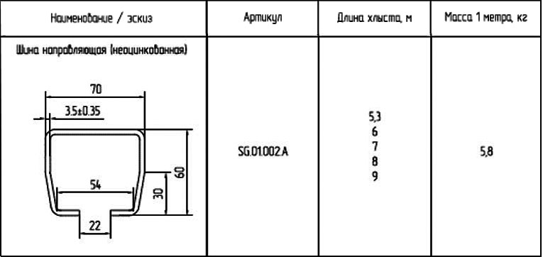 ALUTECH SG.01.002-6 направляющая балка