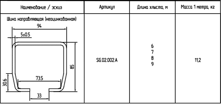 ALUTECH SG.02.002-6 направляющая балка